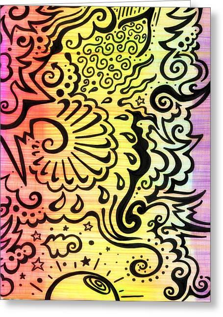 Rainbow Atmosphere Greeting Card by Mandy Shupp