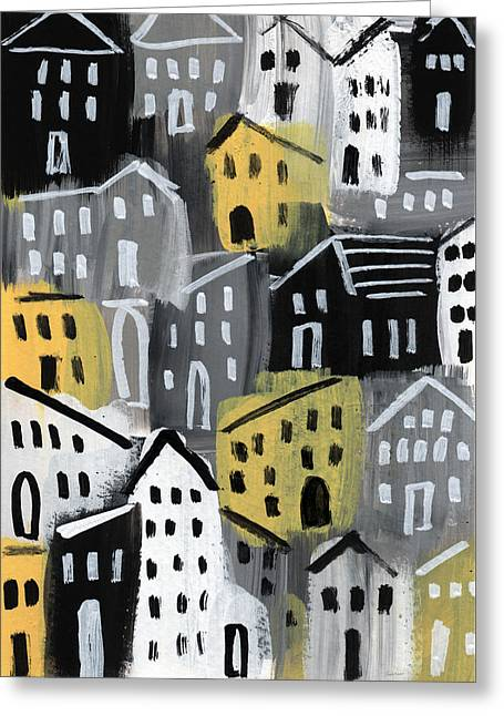 Rainy Day - Expressionist Art Greeting Card