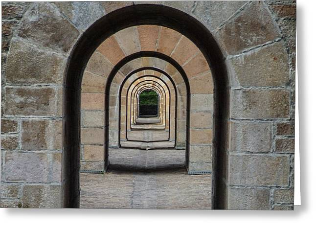 Receding Arches Greeting Card