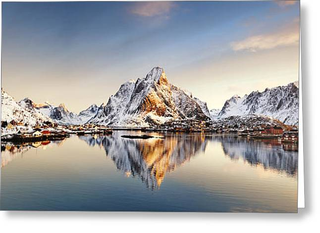 Reine Lofoten Islands Greeting Card by Janet Burdon