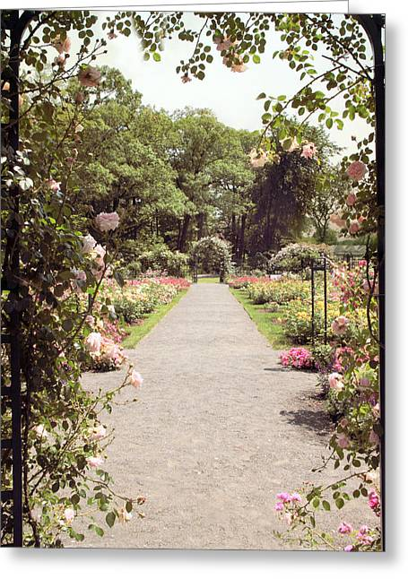 Rose Garden Vista Greeting Card by Jessica Jenney