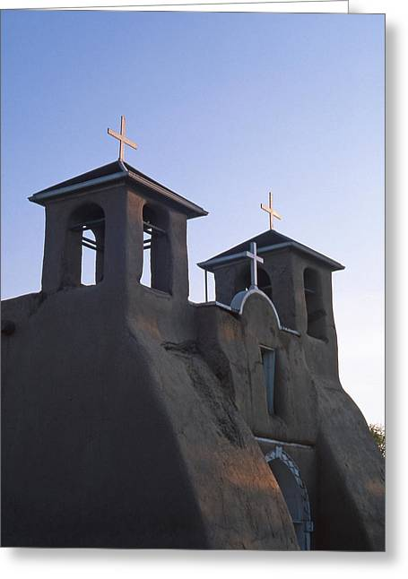 Taos Greeting Cards -  San Francisco de Asis Church at Sunrise Greeting Card by Troy Montemayor
