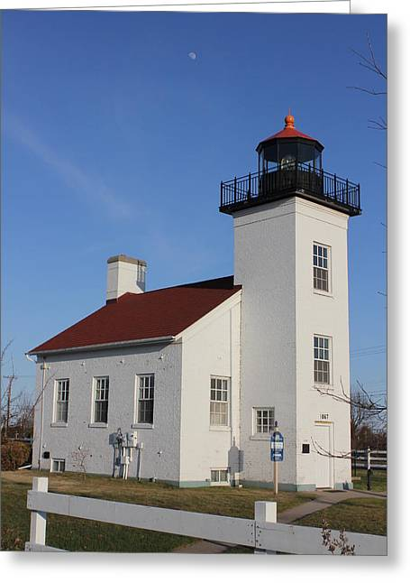 Sand Point Lighthouse Escanaba Greeting Card