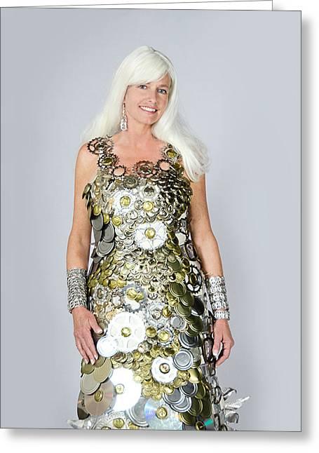 Sara In Clockwork Dragon Dress  Greeting Card