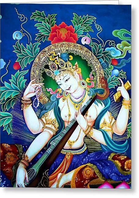 Saraswati 2 Greeting Card