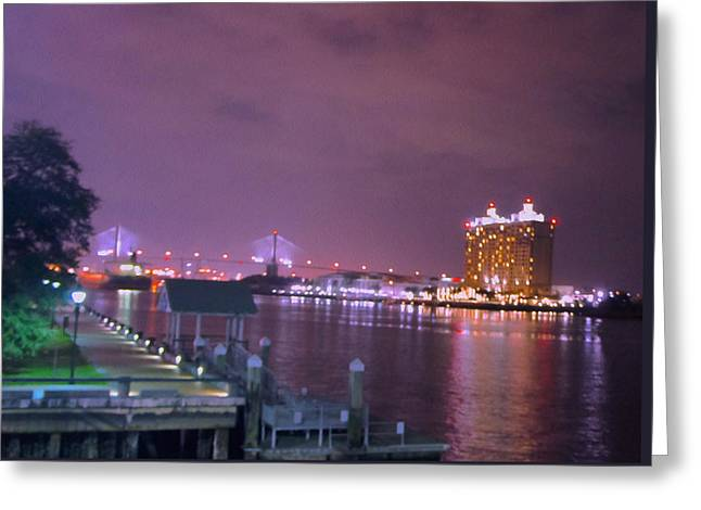 Savannah Riverfront Greeting Card by Art Spectrum