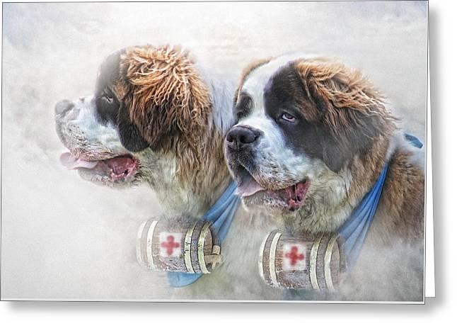 Saviours In The Snow Greeting Card