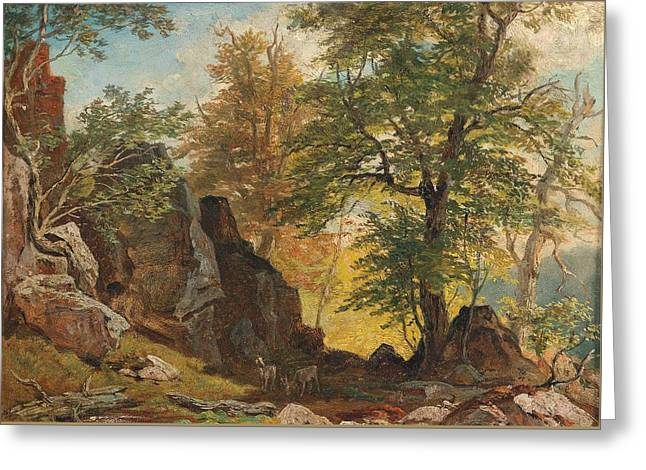 Scene From South Tyrol 2 Greeting Card by Franz Xaver Reinhold