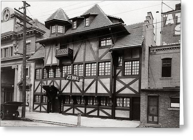 Scranton Pa Zenke's Alt Heidelberg Restaurant Early 1900s Greeting Card