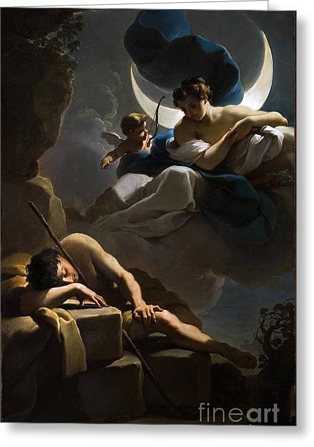 Selene And Endymion Greeting Card