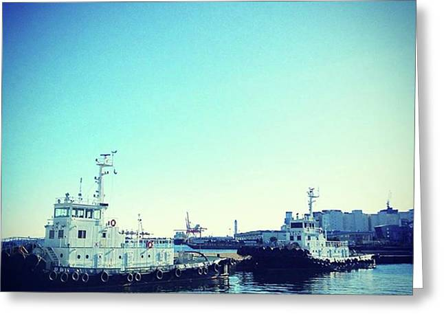 #船 #海 #ships #sea #sky Greeting Card by Bow Sanpo