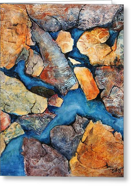 Shoreline Rocks Greeting Card