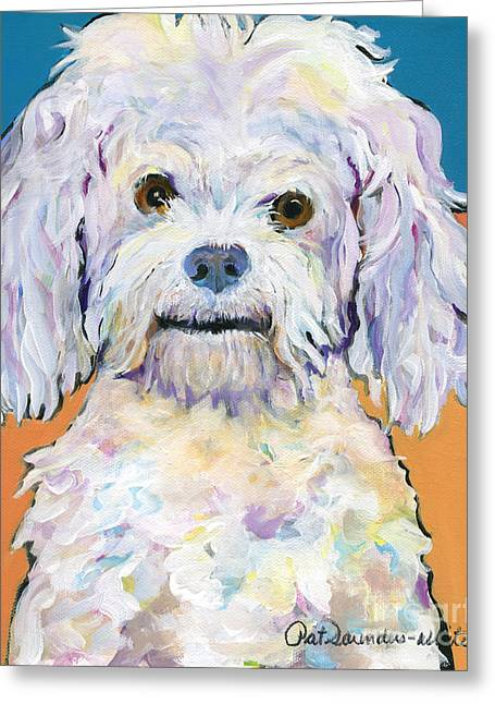 Snowball Greeting Card by Pat Saunders-White