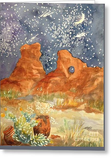 Starry Night In The Desert Greeting Card