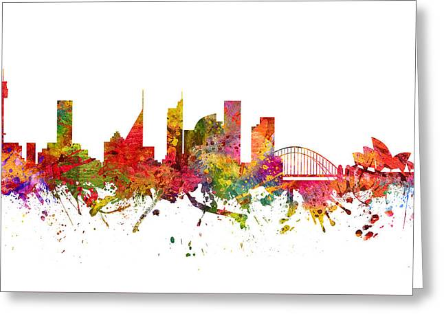 Sydney Australia Cityscape 08 Greeting Card by Aged Pixel