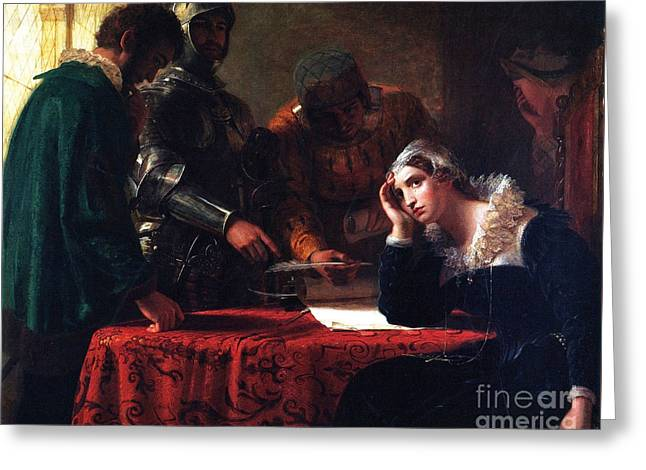 The Abduction Of Mary Queen Of Scots Greeting Card by Celestial Images