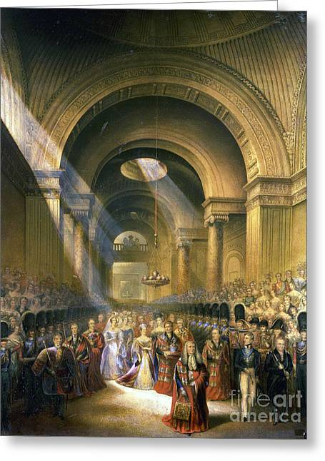 The Arrival Of Her Most Gracious Majesty Queen Victoria Greeting Card