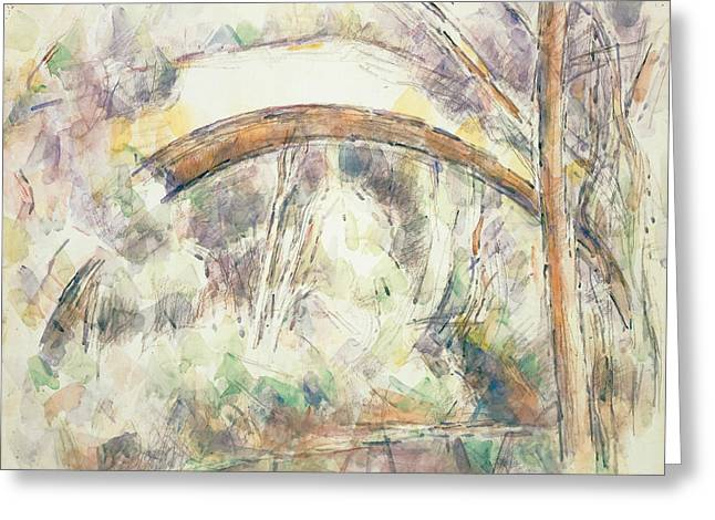 The Bridge Of Trois Sautets  Greeting Card by Paul Cezanne