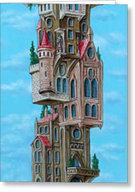 The Castle Of Air Greeting Card