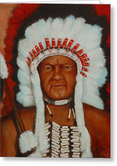 The Chief Greeting Card by Merle Blair