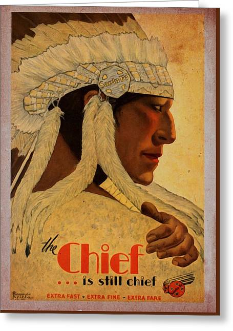 The Chief Train - Vintage Poster Vintagelized Greeting Card
