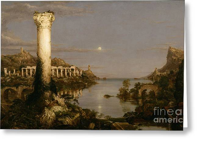 The Course Of Empire Desolation Greeting Card by Celestial Images