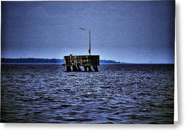 Greeting Card featuring the photograph  The Dock Of Loneliness by Jouko Lehto