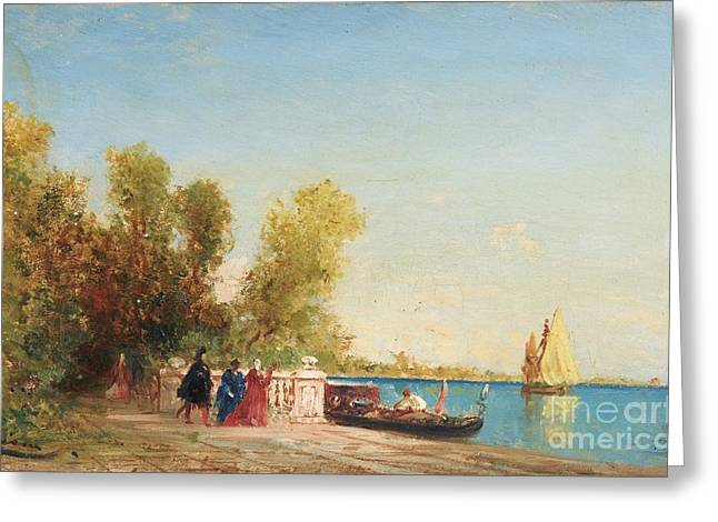 The French Gardens Of Venice Greeting Card by Celestial Images