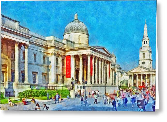 The National Gallery And St Martin In The Fields Church Greeting Card