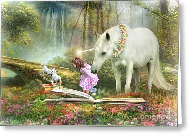The Unicorn Book Of Magic Greeting Card