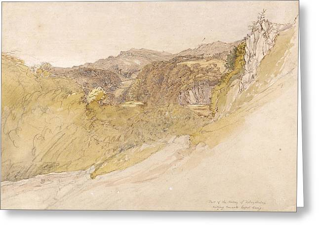 The Valley Of Dolwyddelan Greeting Card by Samuel Palmer