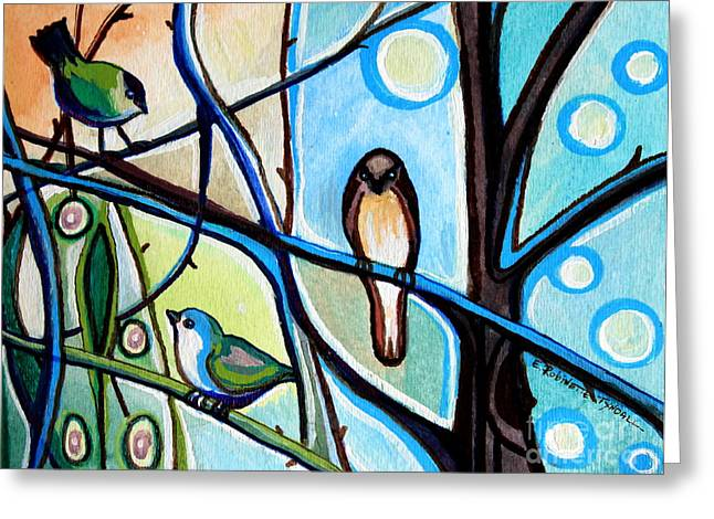 Three Birds Greeting Card