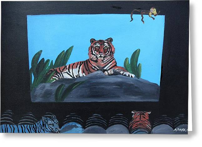 Tiger Show Greeting Card
