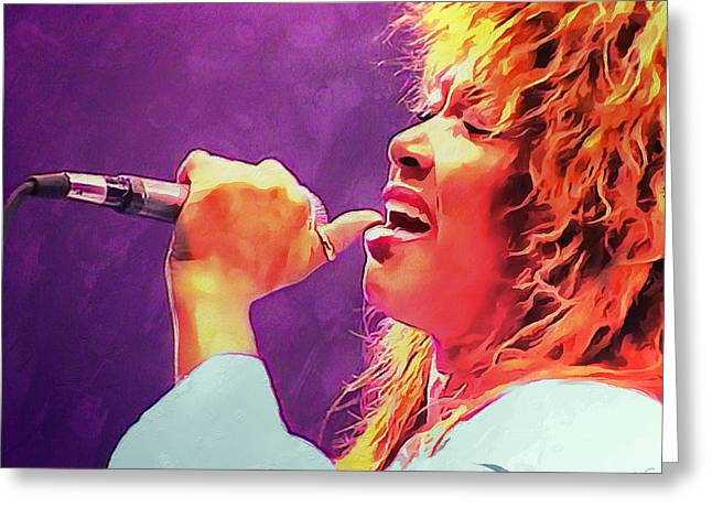 Tina Turner Greeting Card by Sergey Lukashin