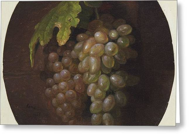 Title Grapes Rome Greeting Card by MotionAge Designs