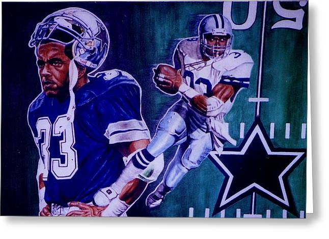 Tony Dorsett Greeting Card