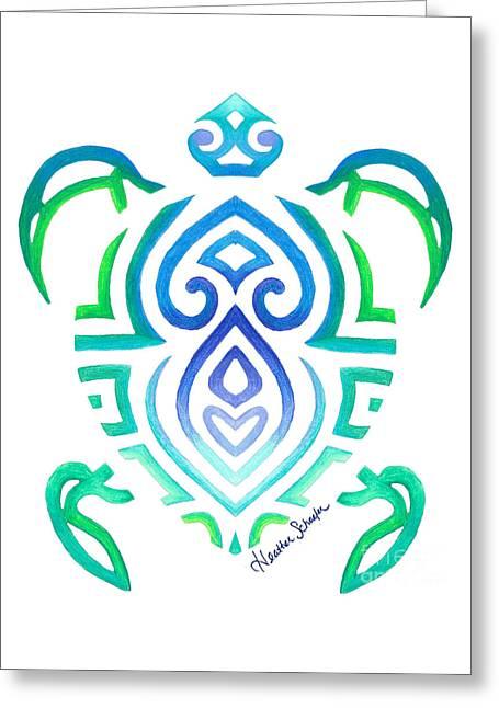 Tribal Turtle Greeting Card