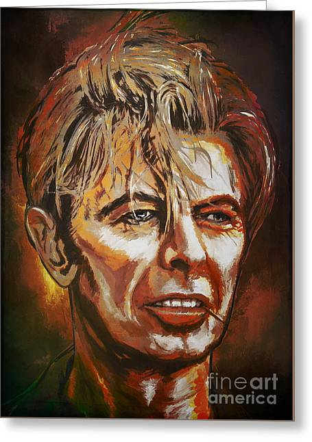 Greeting Card featuring the painting  Tribute To David by Andrzej Szczerski