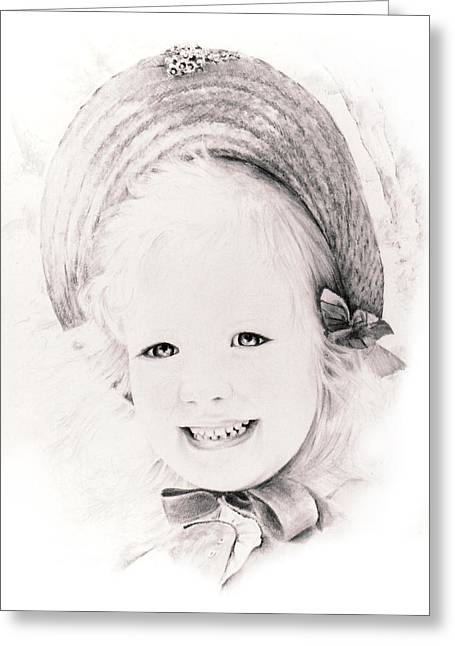 Trudy Greeting Card by Rachel Christine Nowicki