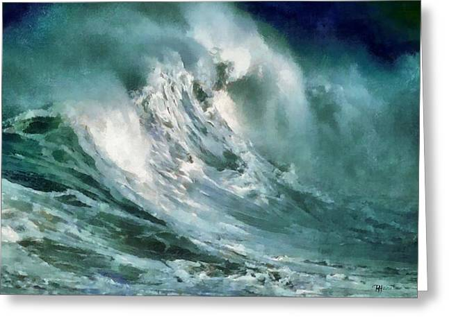 Tsunami - Raging Sea Greeting Card by Russ Harris
