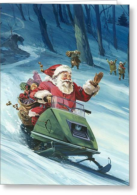 Twentieth Century Santa  Greeting Card