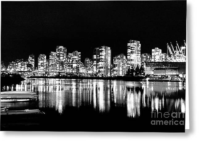 Vancouvers Silver Lining  Greeting Card by Dean Edwards
