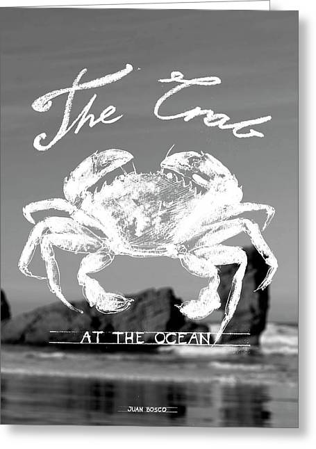 Velvet Crab, Greeting Card