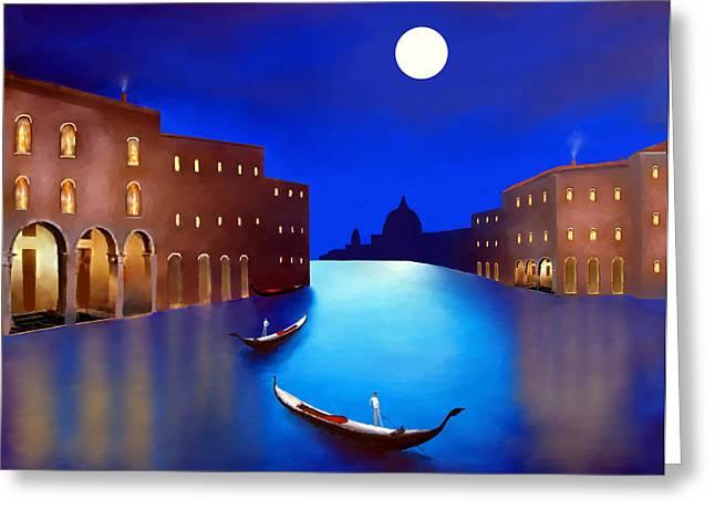Larry Cirigliano Greeting Cards -  Venice Nights Greeting Card by Larry Cirigliano