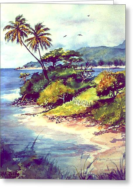 Vieques Island Puerto Rico Greeting Card by Estela Robles