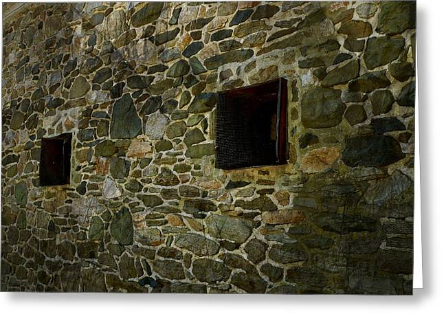 Vintage Stone Wall In Radnor  Pa Greeting Card by Heinz G Mielke
