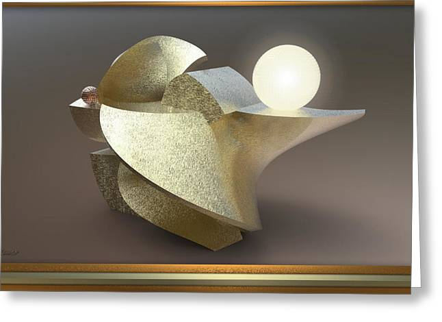 ' Wavy Cut Sculpture Light ' Greeting Card