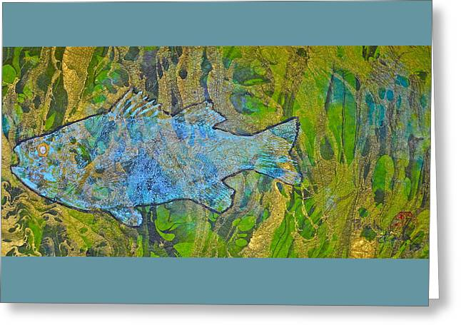 White Perch - White Crappie Greeting Card by Jeffrey Canha
