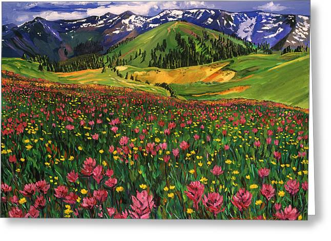 Wildflowers Greeting Card by David Lloyd Glover