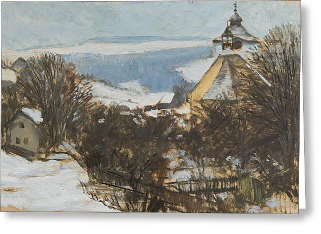 Winter Landscape Greeting Card by MotionAge Designs